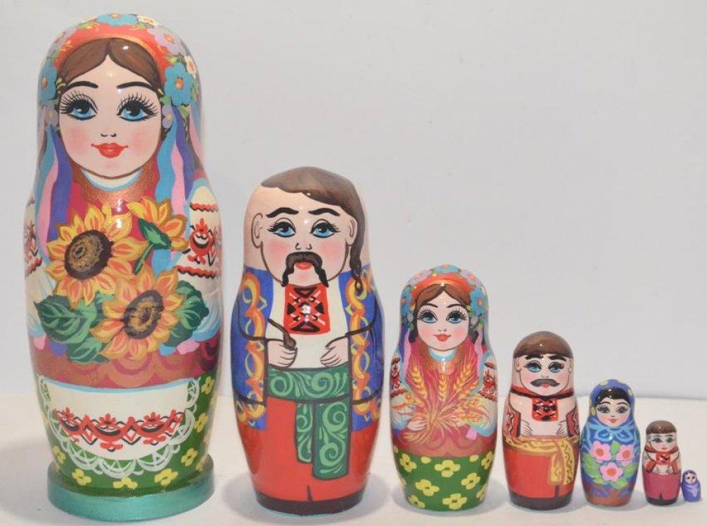Украинская расписная матрёшка из 7-ми штук маленькая 703