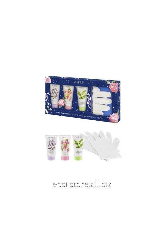 Купить Набор для рук Yardley Коллекция кремов для рук с увлажняющими перчатками 3 х 50 мл