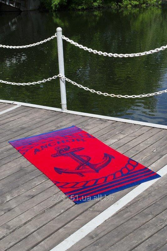 Купить Полотенце пляжное велюр 75х150 Anchor Red