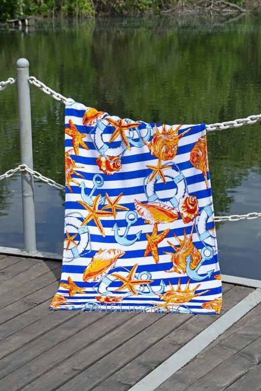 Купить Полотенце пляжное велюр 75х150 Shells
