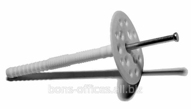 Дюбель для термоизоляции с металлическим или пластиковым гвоздем.