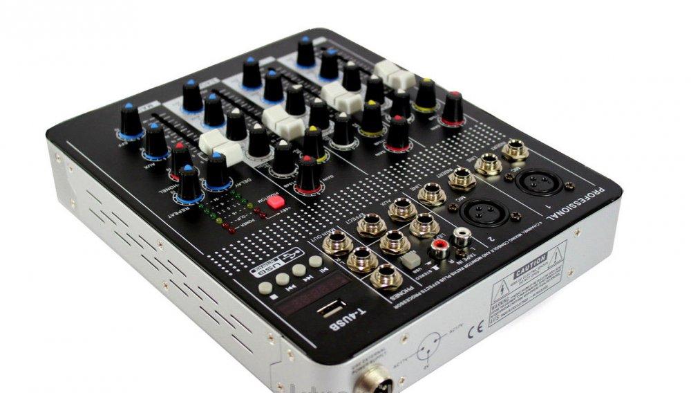 Купить Аудио микшер Mixer BT-4000 4ch.+BT (микшерный пульт)