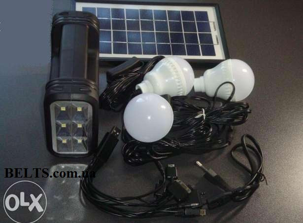 Купить Солнечная набор с лампами GD Lite GD-8017 (+ аккумулятор)