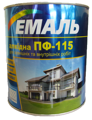 Купить Емаль ПФ-115 темно-коричнева / 2.8 кг. / Хімтекс (бан.)