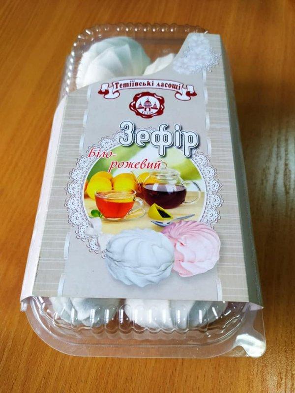 Купить Зефир «Бело-розовый» фасованный по 0,450гр