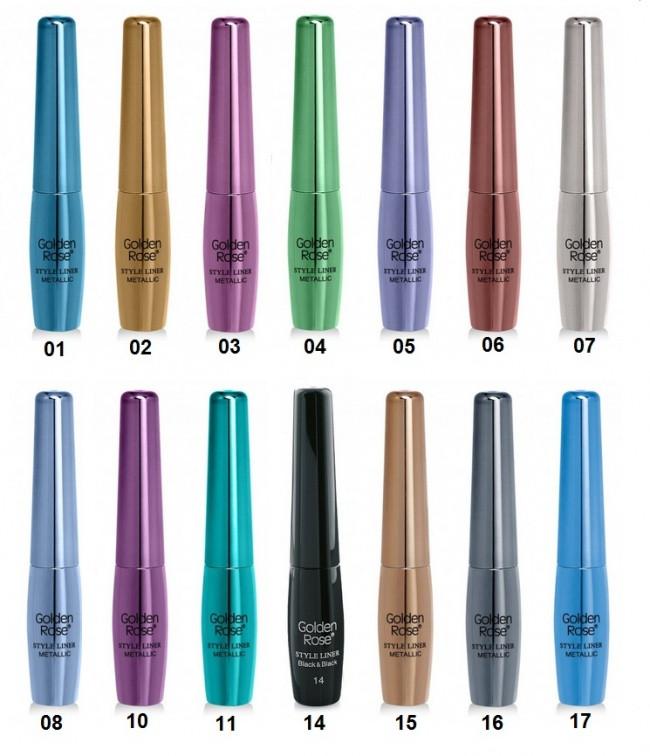 Купить Подводка для глаз Golden Rose Style Liner Metallic