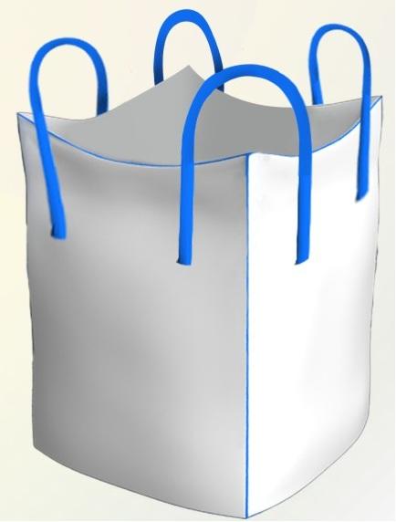 Мешок полипропиленовый четырехстропный с нашивными стропами биг-бег