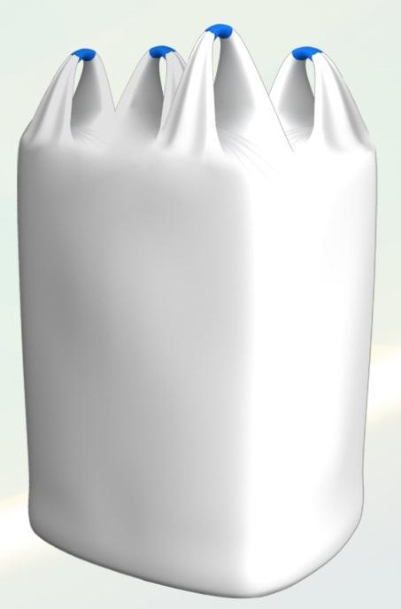 Мешки Биг-Бег полипропиленовые четырехстропные, ручки из тела контейнера. Экспорт