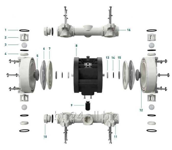 Kuler-ventiler eller seter-baller til pumper