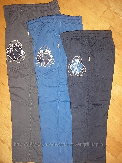 Утеплені спортивні штани на хлопчиків із плащовки HONG 98-128 рр ... 01e3325274235