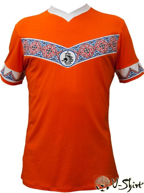 Купити Вишиванка U-Shirt Holland. Прикольні футболки з вишивкою купити. Футболки  футбольні з 9d1eb40c4e5fe
