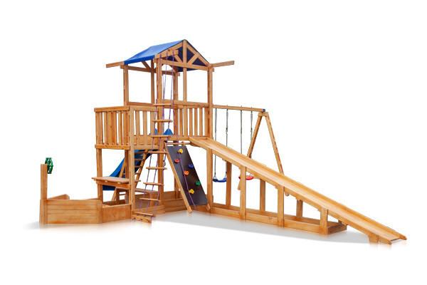 Купить Детская площадка - Капитан с зимней горкой Babyland-13
