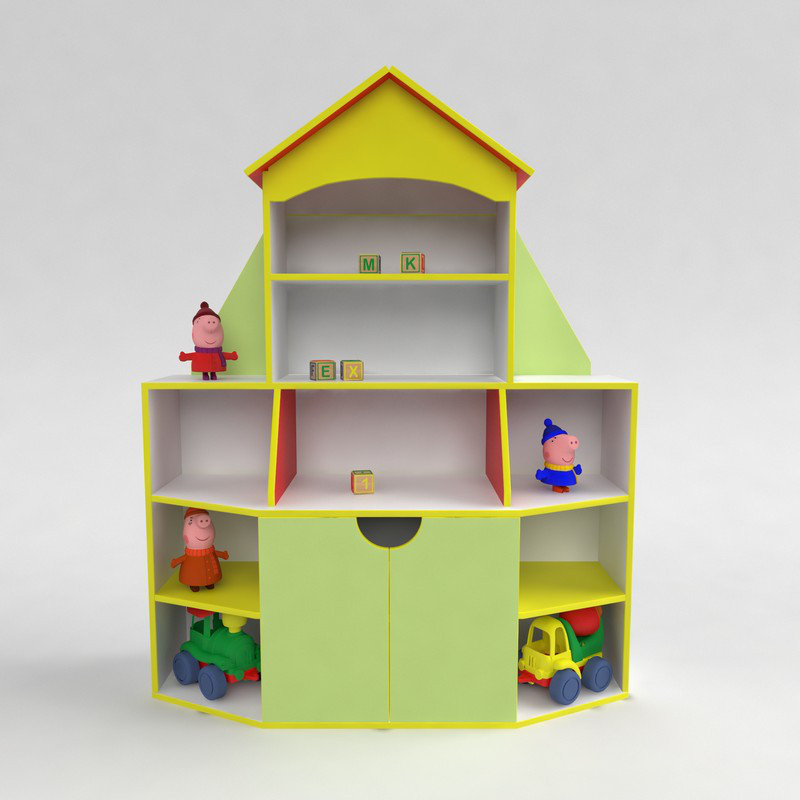 """Купить Детская мебель. Стенка для игрушек """"Книжный дом"""" в детский сад и домой!"""