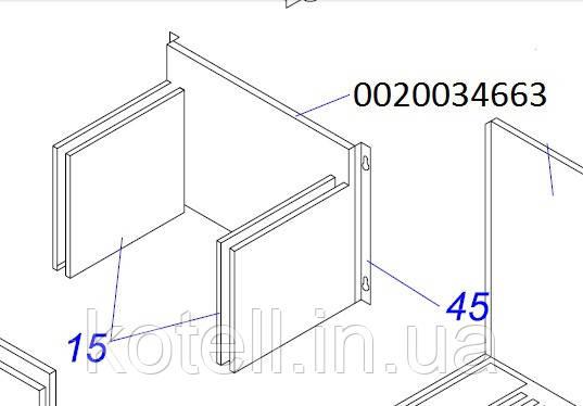 Купить Изоляция SK 286*217 мм на газовый котел Протерм Леопард v15 Ренова (0020034663)
