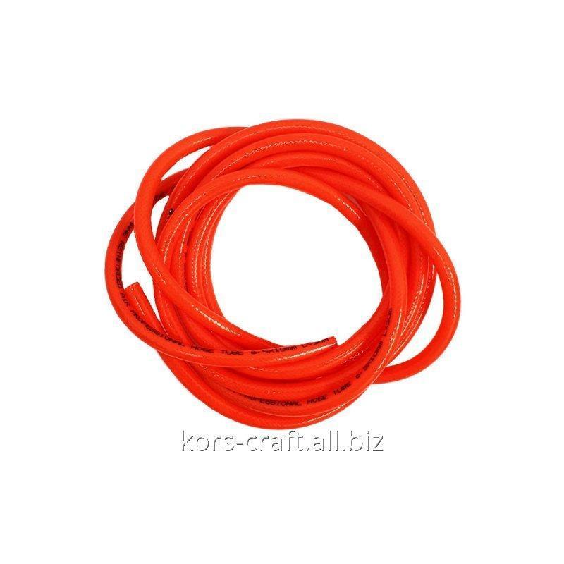 Купить Шланг полиуретановый красный армированный 10х6.5 мм.
