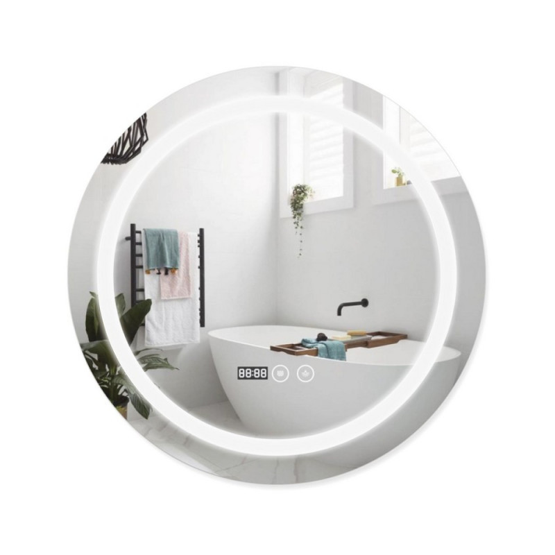 Зеркало Qtap Mideya с антизапотеванием (DC-F803) 600х600 QT2078F803W