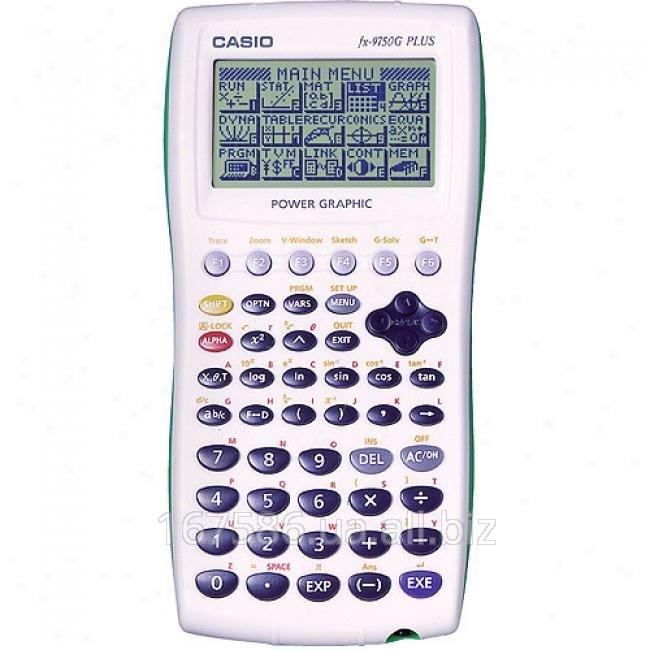 Fx-9750g plus calculator.