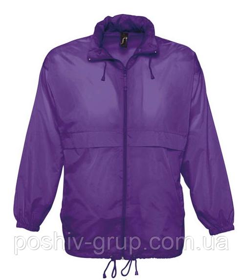 Купить Ветровка SOL'S, фиолетовая водонепроницаемая ветровка