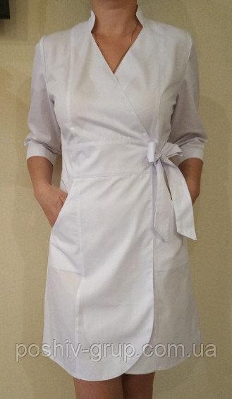 Купить Медицинский халат (платье) на запах