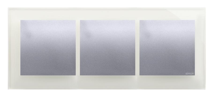 Купить Рамка 3-кратна скляна срібна Kontakt-Simon DRN3/71