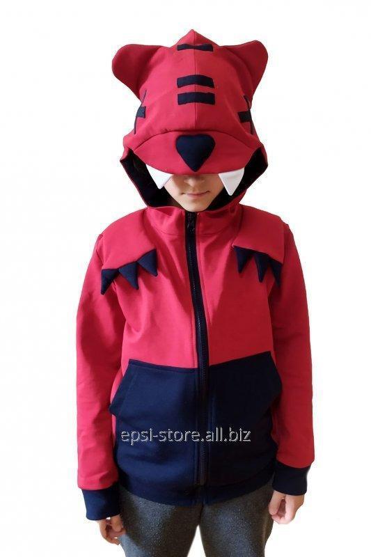Купить Свитшот\кофта детская Нита EVA Нита бордово-бурый + темно-синий 110 см