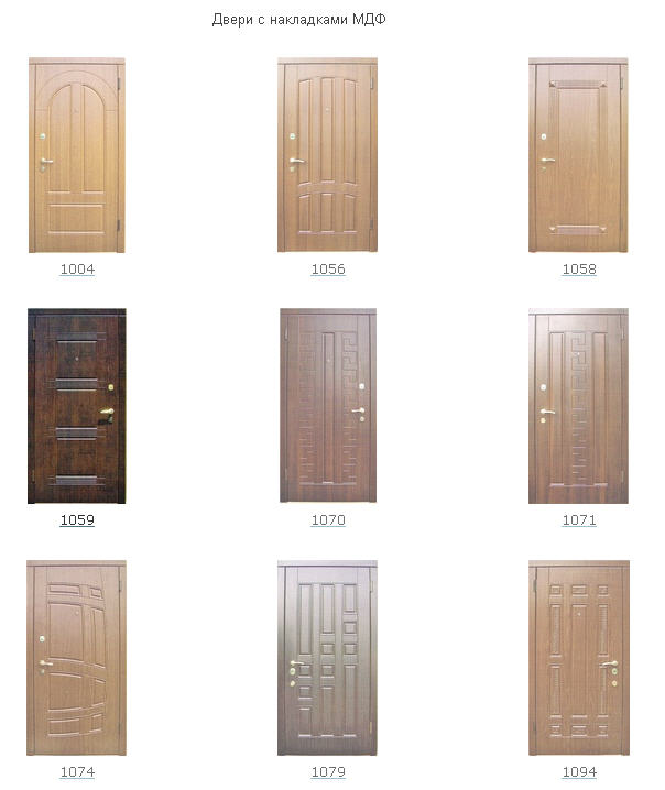 входные двери мдф цены