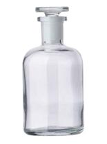 Бутыль для х/р (светлое стекло, притертая пробка, широкое горло) 125 мл