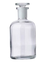 Бутыль для х/р (темное стекло, притертая пробка, узкое горло) 1000 мл