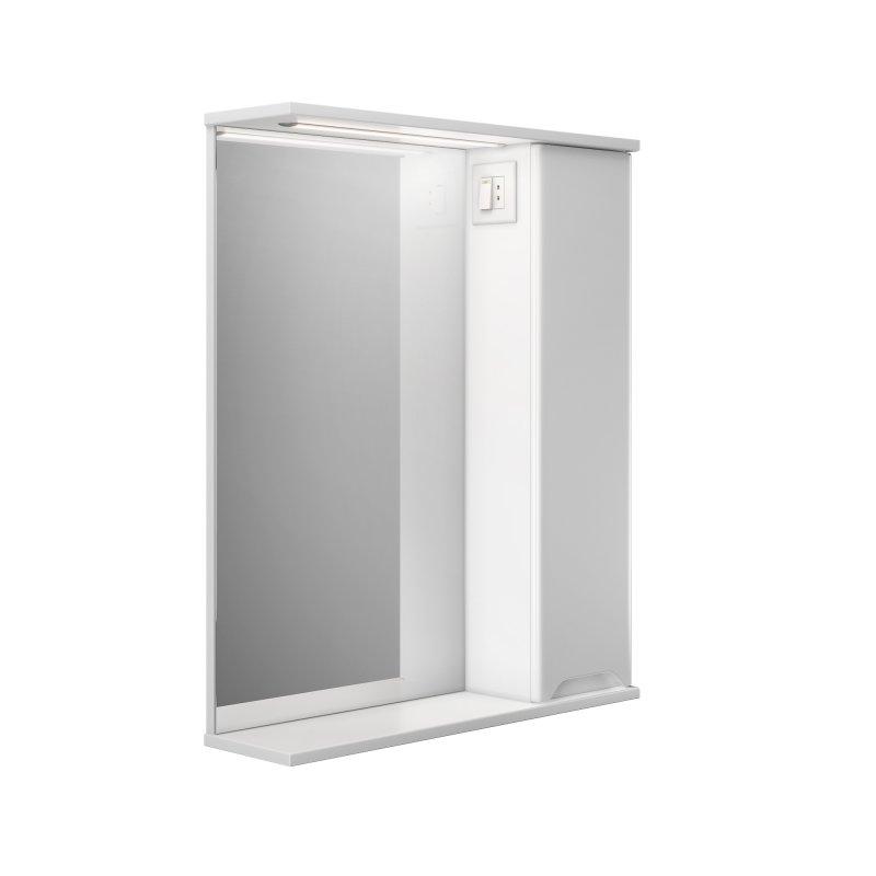 Купить Шкаф подвесной правый с зеркалом Respect-M Prime Prmc-65 R с LED подсветкой белый (39390)