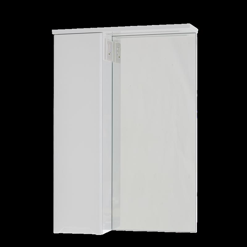 Купить Шкаф подвесной левый с зеркалом Respect-M Prime Prmc-55 L з LED подсветкой белый (39378)