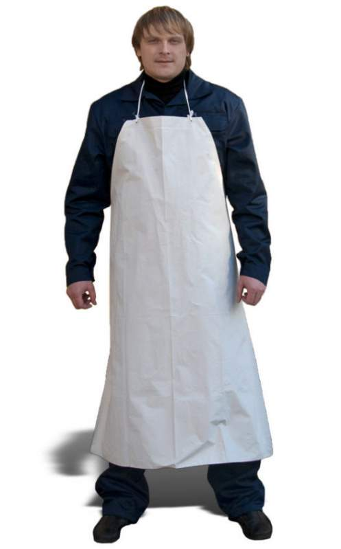 APRONS/APRONS, white fabric: cotton sheeting, cotton apron-art DRESS.. 1002, fabric: nylon (green, cornflower, t./blue)