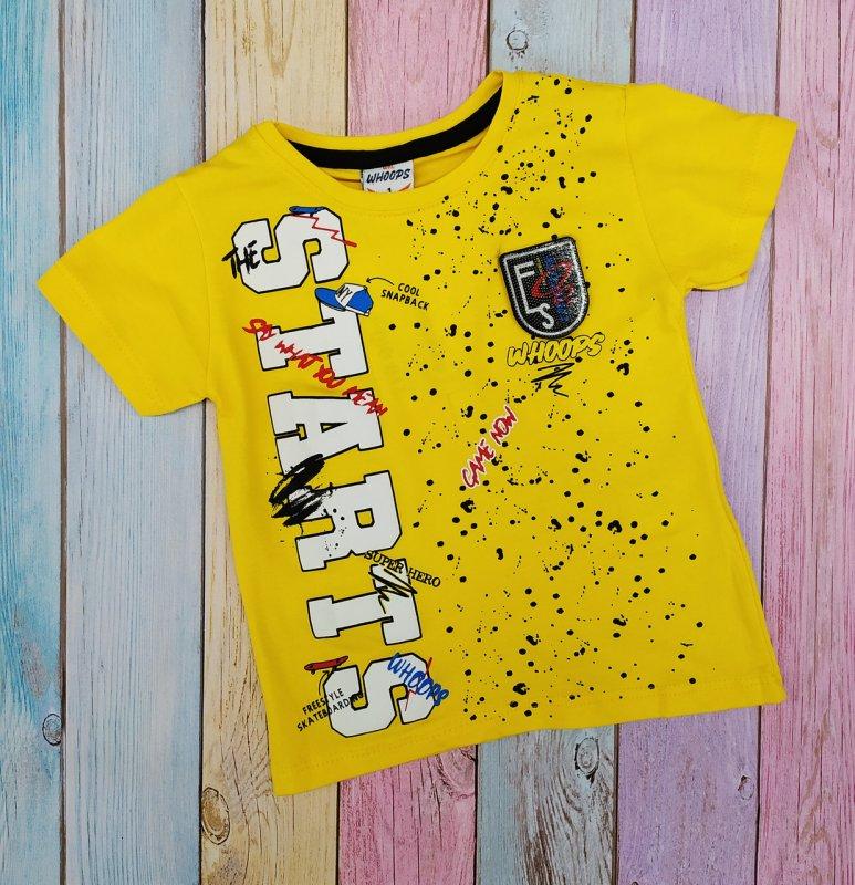Купить Футболка желтая для мальчиков с эмблемой р ;104