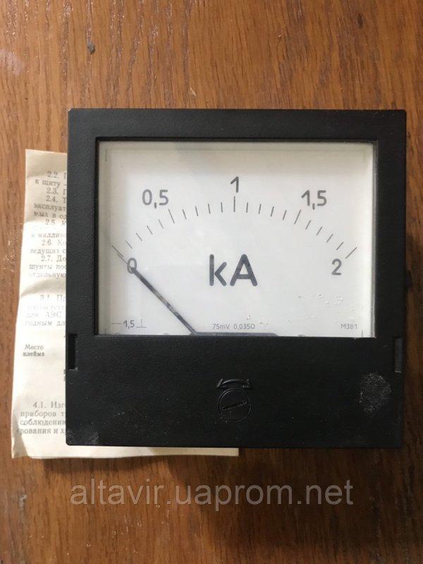 Купить Амперметр щитовой постоянного тока М381 2кА