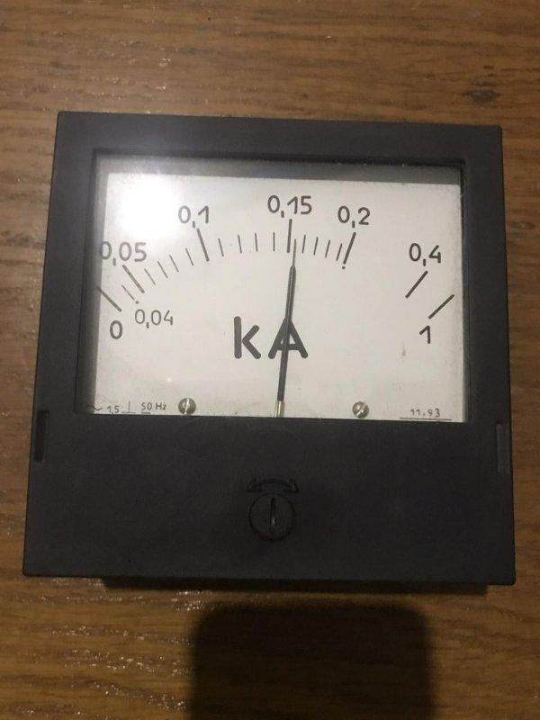 Купить Амперметр щитовой переменного тока щитовой Э365-2 0,3-1,5кА 300/5