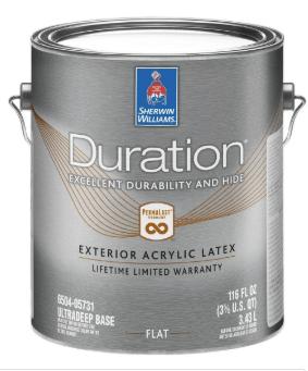 Купить Краска Duration Exterior Sherwin-Williams глубокоматовая фасадная ультра-насыщенные оттенки, 3,43л (дюрейшн