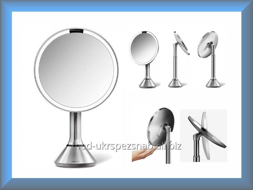 Купить Зеркало сенсорное круглое 20 см на аккумуляторе ST3026 Simplehuman (увеличение 1x5)