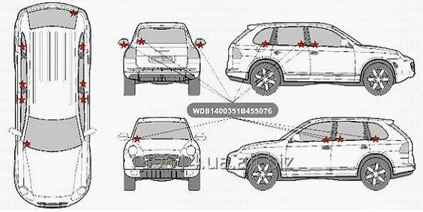 Buy Anticreeping marking of glasses of mirrors of the car.