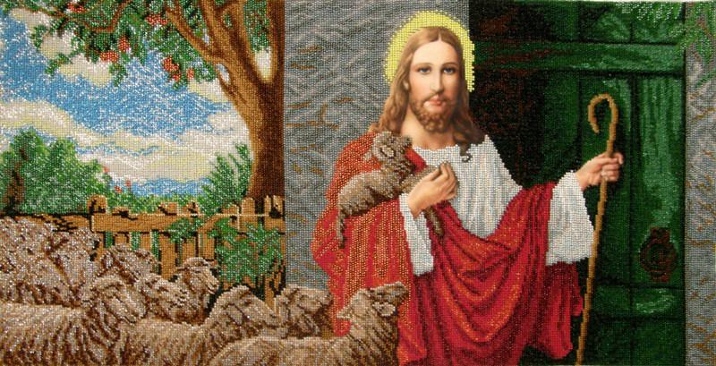 Купить ІСД. Схема для вишивки бісером Ісус стукає у двері.