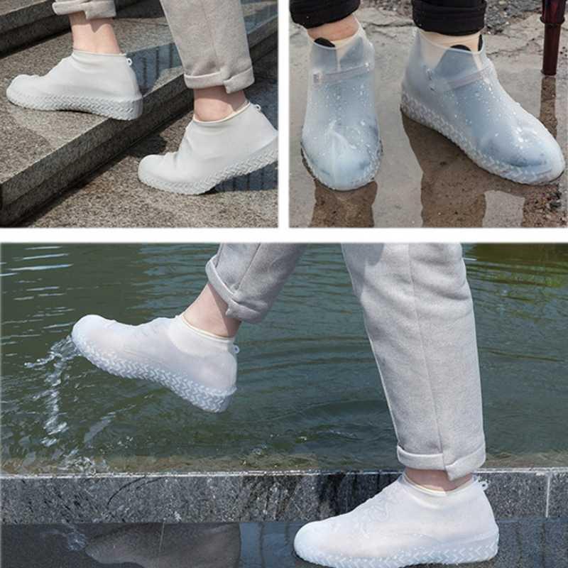 Купить Бахилы (чехлы) от дождя многоразовые силиконовые Waterproof Silicone Shoe. Суперпрочные