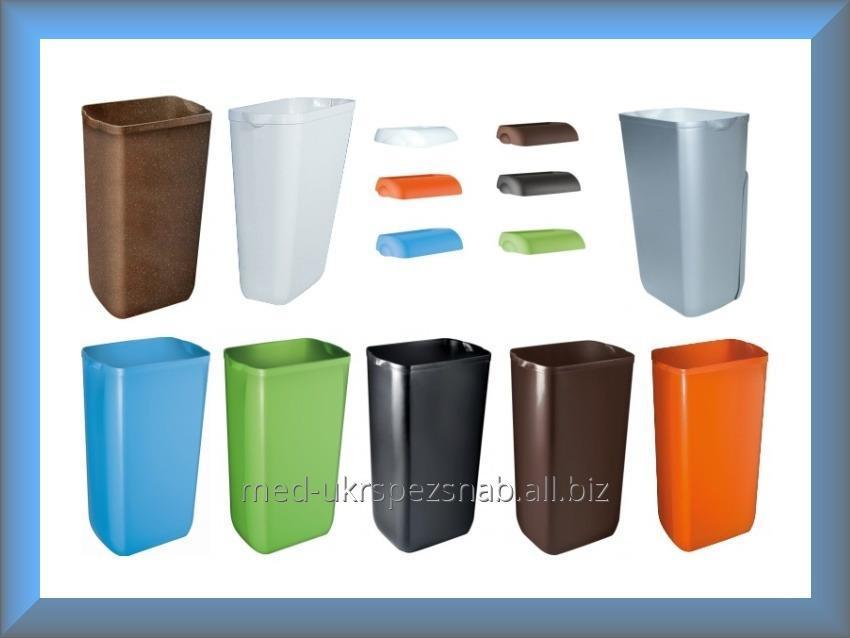 Купить Урна для мусора, ведро для мусора, урна пластмассовая, корзина пластмассовая 23л COLORED A74201AZ Mar Plast