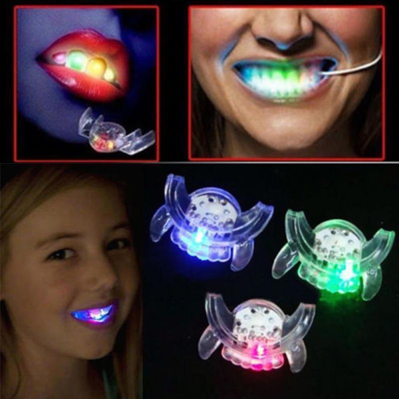 Купить Мигающая светодиодная капа вставляется в рот вечерняя подсветка зубов для хэллоуина RAVE Мигающий светодиодная