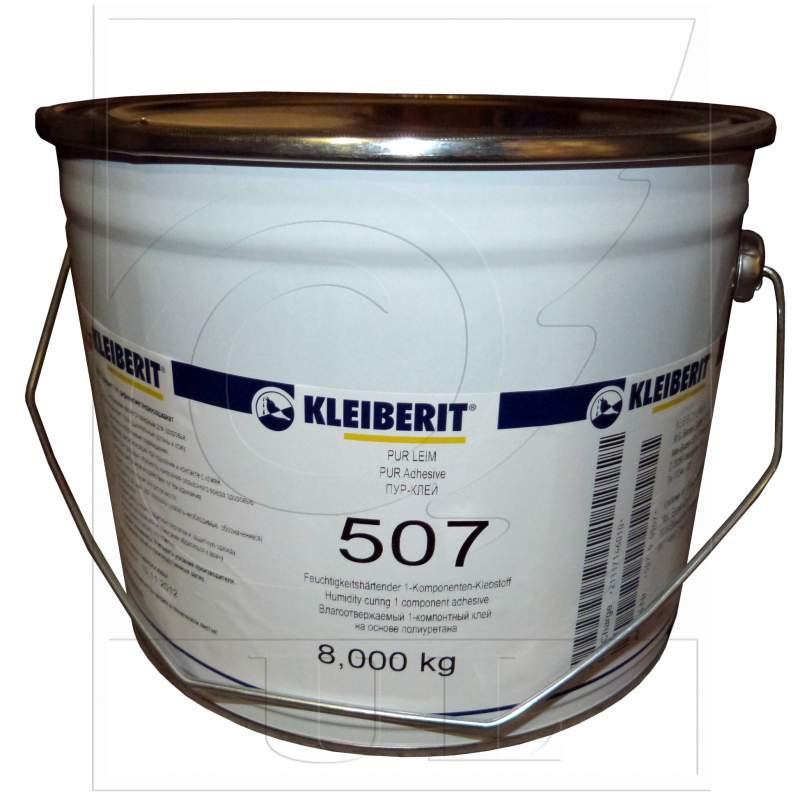 Купить Паркетный клей Kleiberit 507.0 реактивный 1к, влагостойкий и температуростойкий пур-клей d4, выдержка 6-10 мин, прессование 60 мин (20ºС)