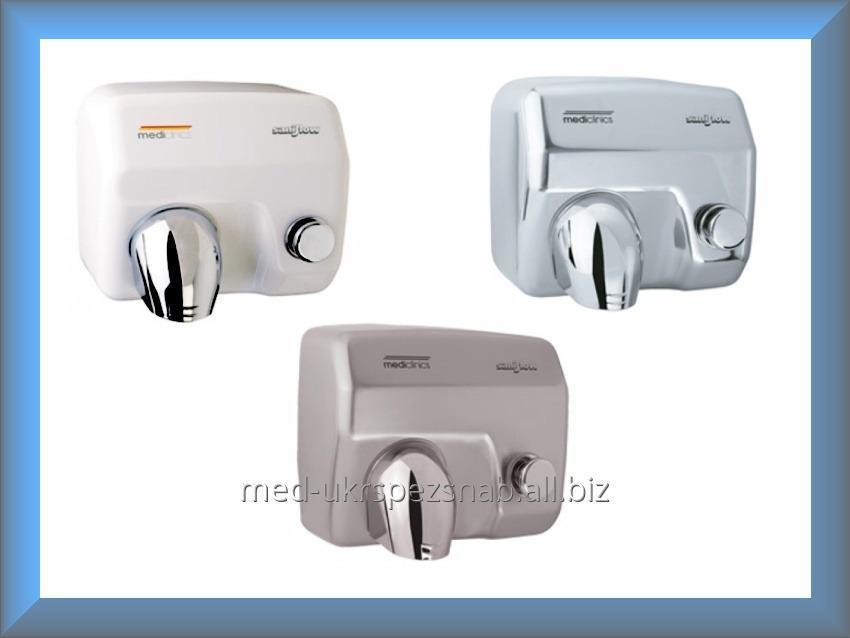 Купить Сушилка для рук Mediclinics SANIFLOW Push Button E05CS (нержавеющая сатиновая сталь)