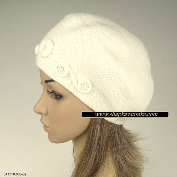 Білий жіночий берет Del Mare купити в Запоріжжя 768797f22cd3f