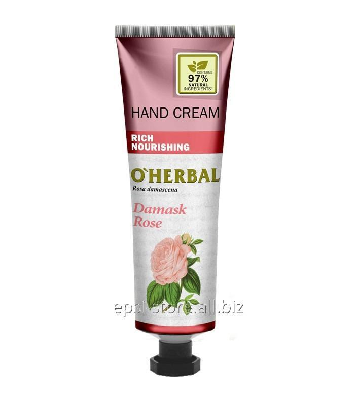 Купить Питательный крем для рук O`Herbal Rich дамасская роза, 30 мл