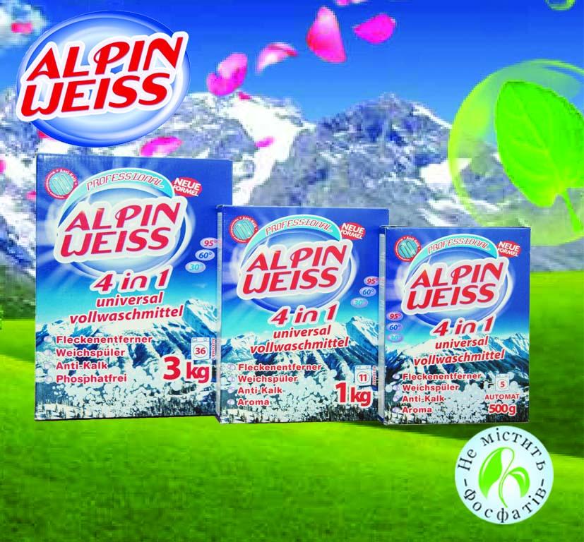 Besfosfatnyj Stiralnyj Poroshok 4in1 Alpinweiss 500 G 1 Kg 3