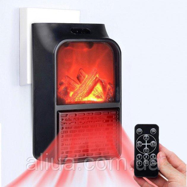 Купить Портативный мини обогреватель Flame Heater New 900W с имитацией камина, LCD-дисплеем и пультом / Портативные
