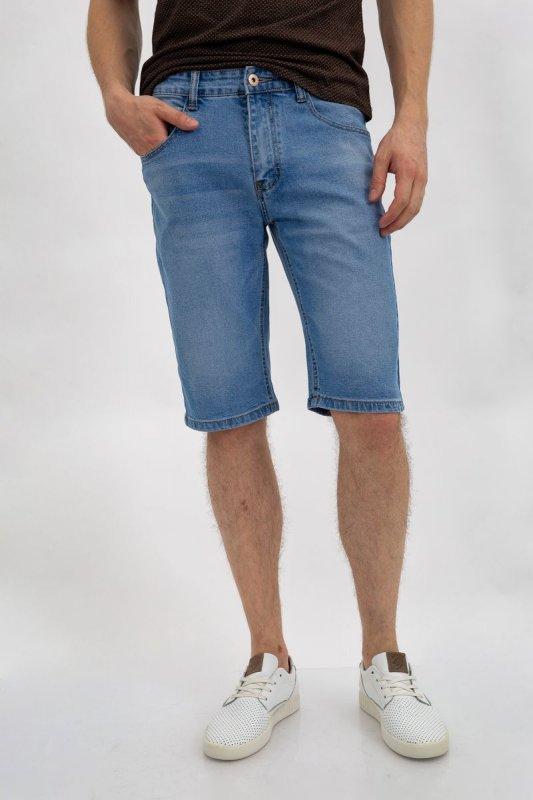 Купить Джинсовые шорты муж 144R906-6A цвет Голубой