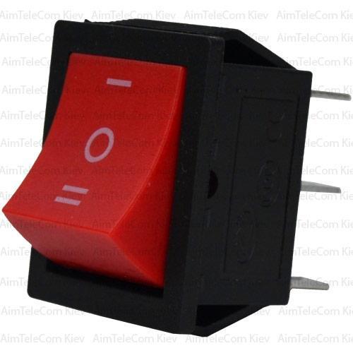 Купить Переключатель широкий KCD-4, ON-OFF-ON, 6pin, 15A, 220V, красный