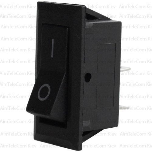 Купить Переключатель узкий KCD3-001 ON-OFF, 2pin, 220V, чёрный